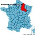 Champagne-Ardenne-Position met pijl en bron