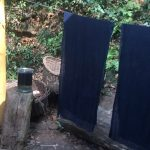 indigo blauwe katoen